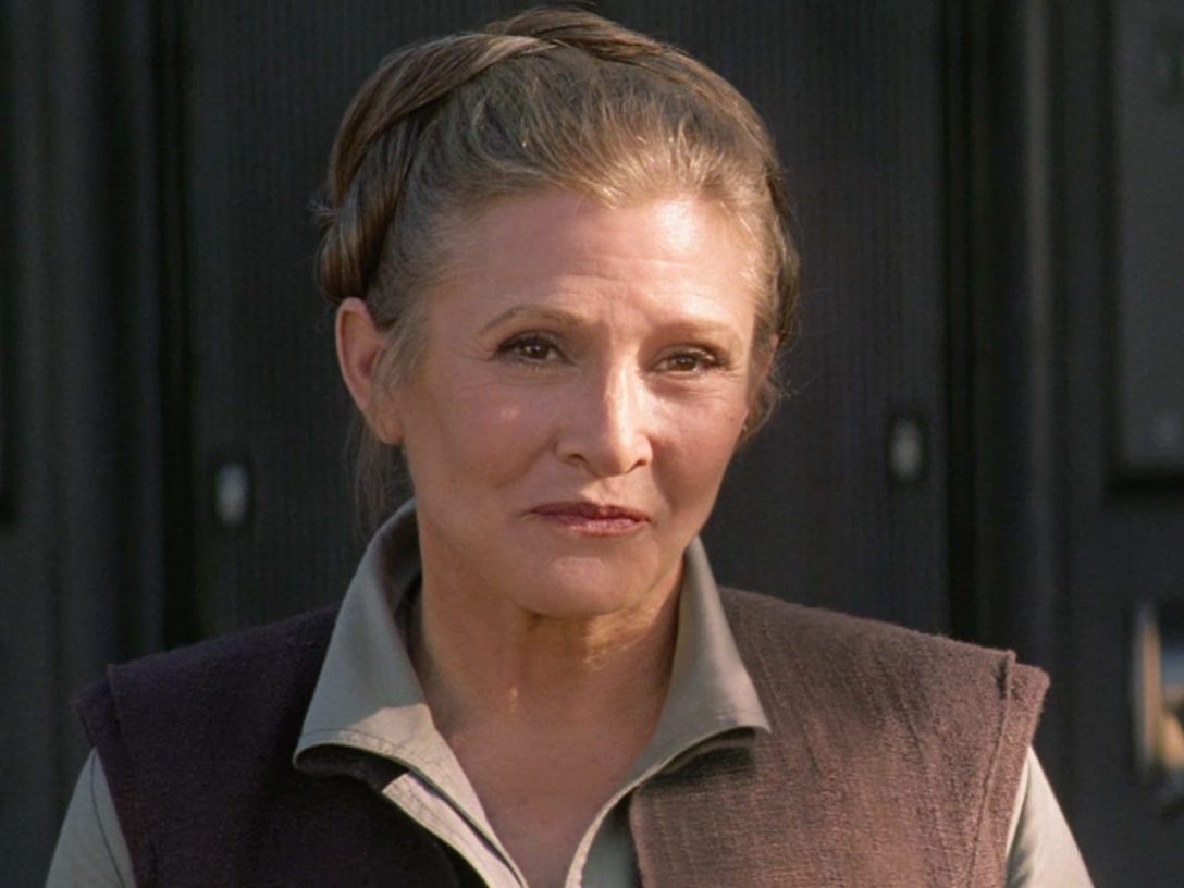 Leia in The Force Awakens