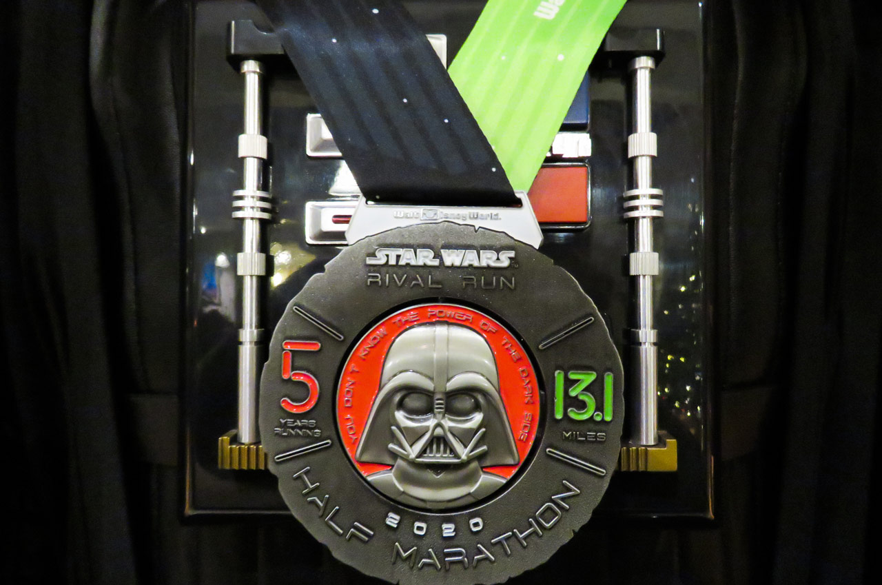 runDisney Star Wars Rival Run Weekend - Half Marathon Darth Vader medal