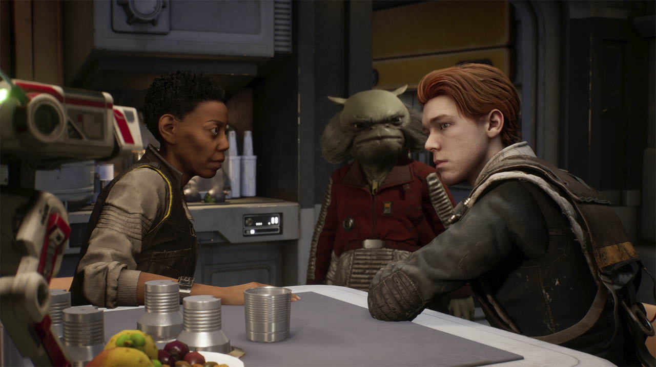 Cal and Greef in Star Wars Jedi Fallen Order