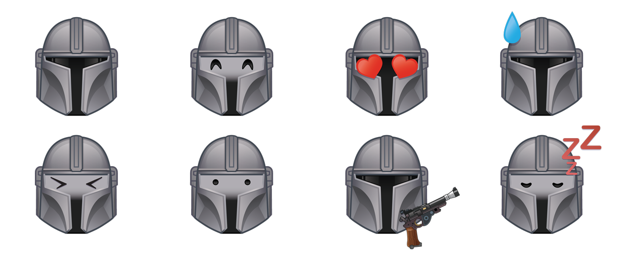 The Mandalorian expressions in Emoji Blitz