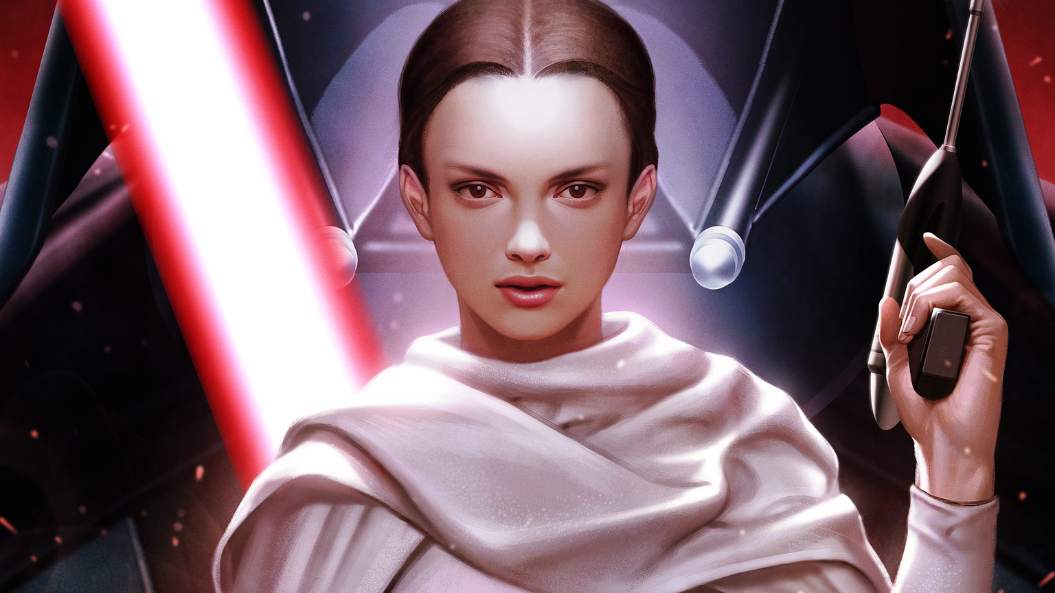 Padmé Amidala on the cover of Marvel's Darth Vader #2