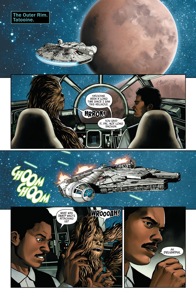 Star Wars #2 - Lando and Chewie arrive at Tatooine