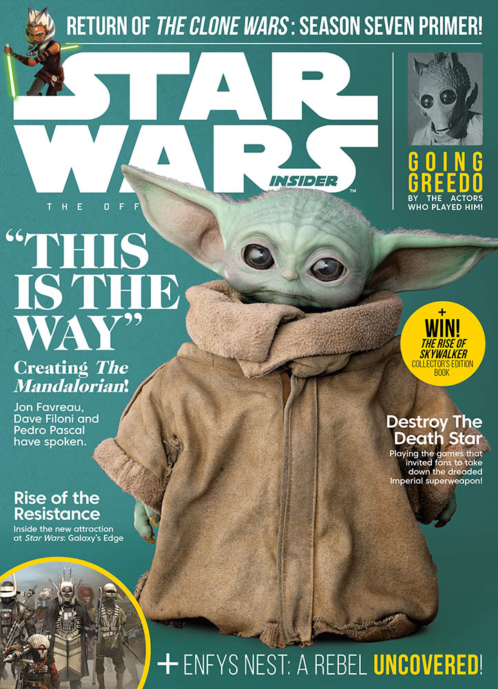 Star Wars Insider issue #195 cover featuring The Child