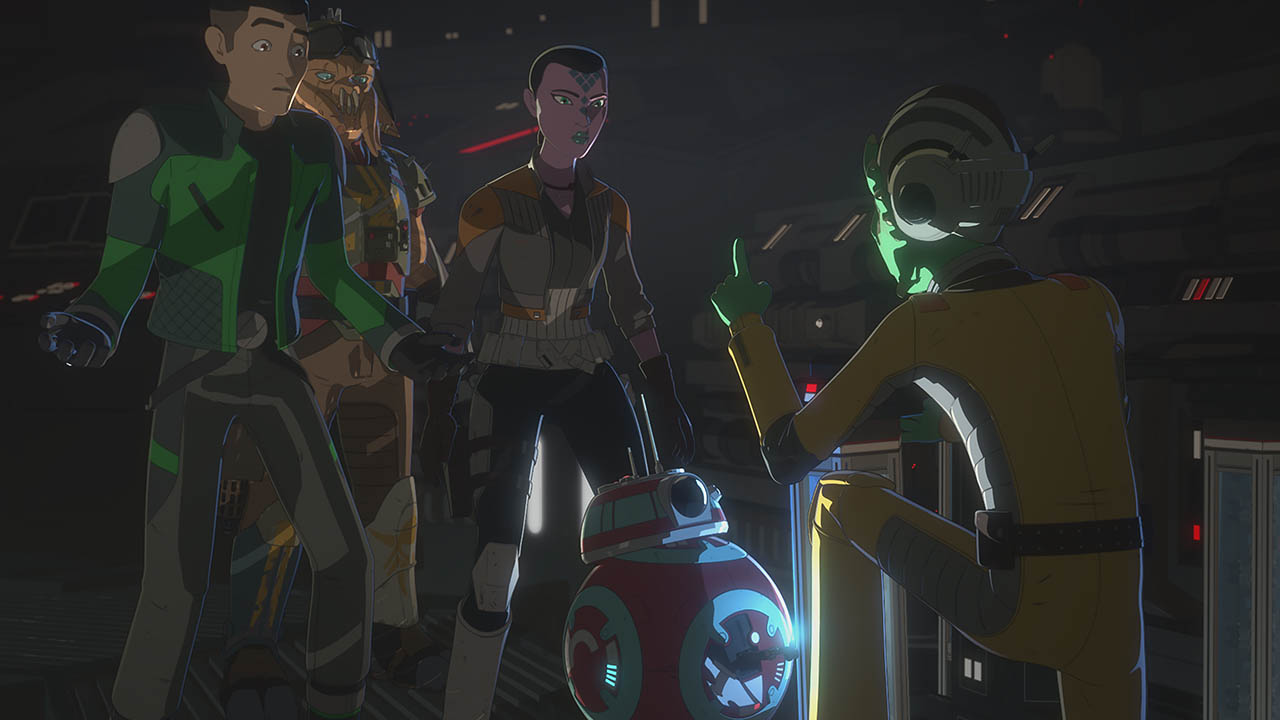 Kaz and the pirates in the second season of Star Wars Resistance.
