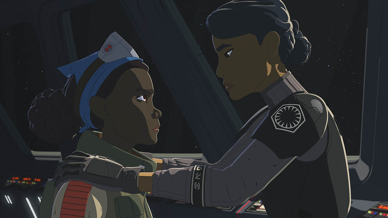 Tam and Agent Tierny in the second season of Star Wars Resistance.