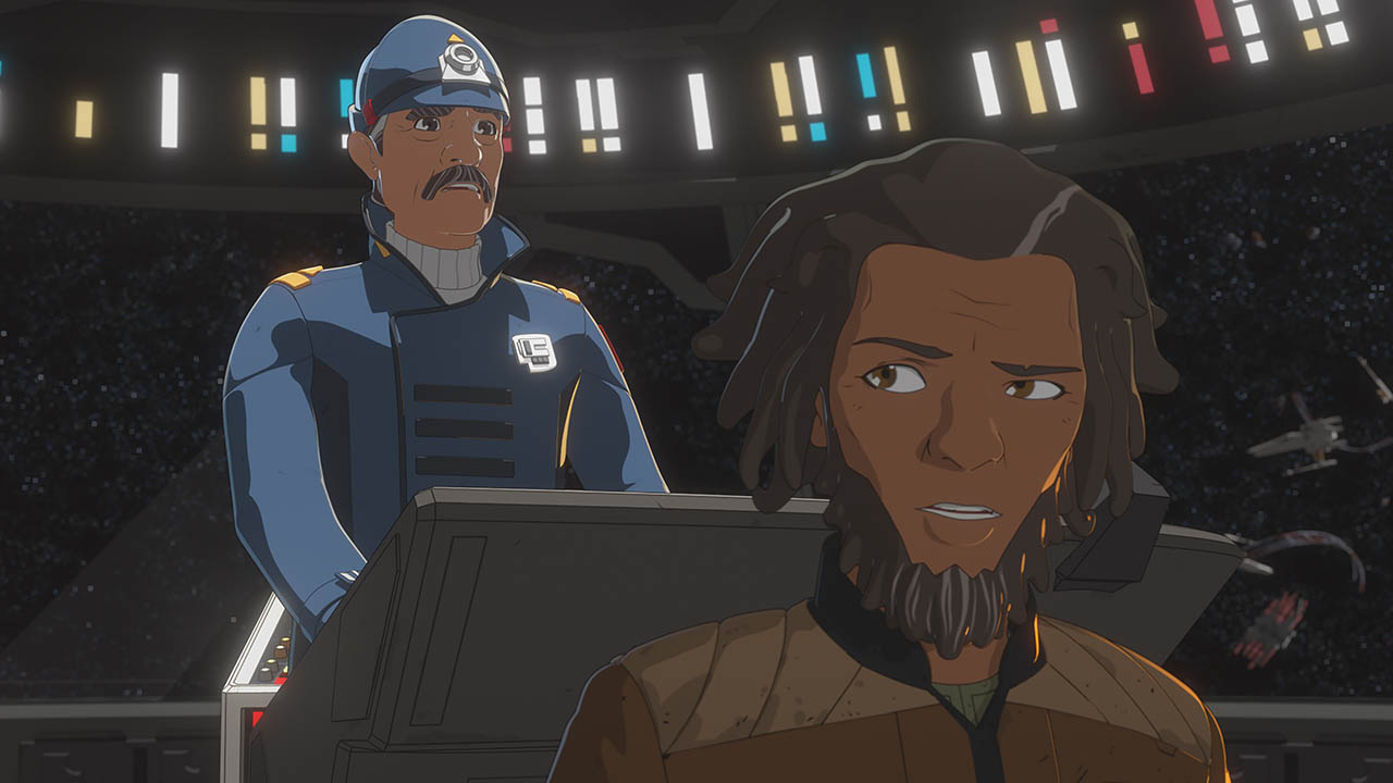 Jarek Yeager and Captain Doza in the second season of Star Wars Resistance.