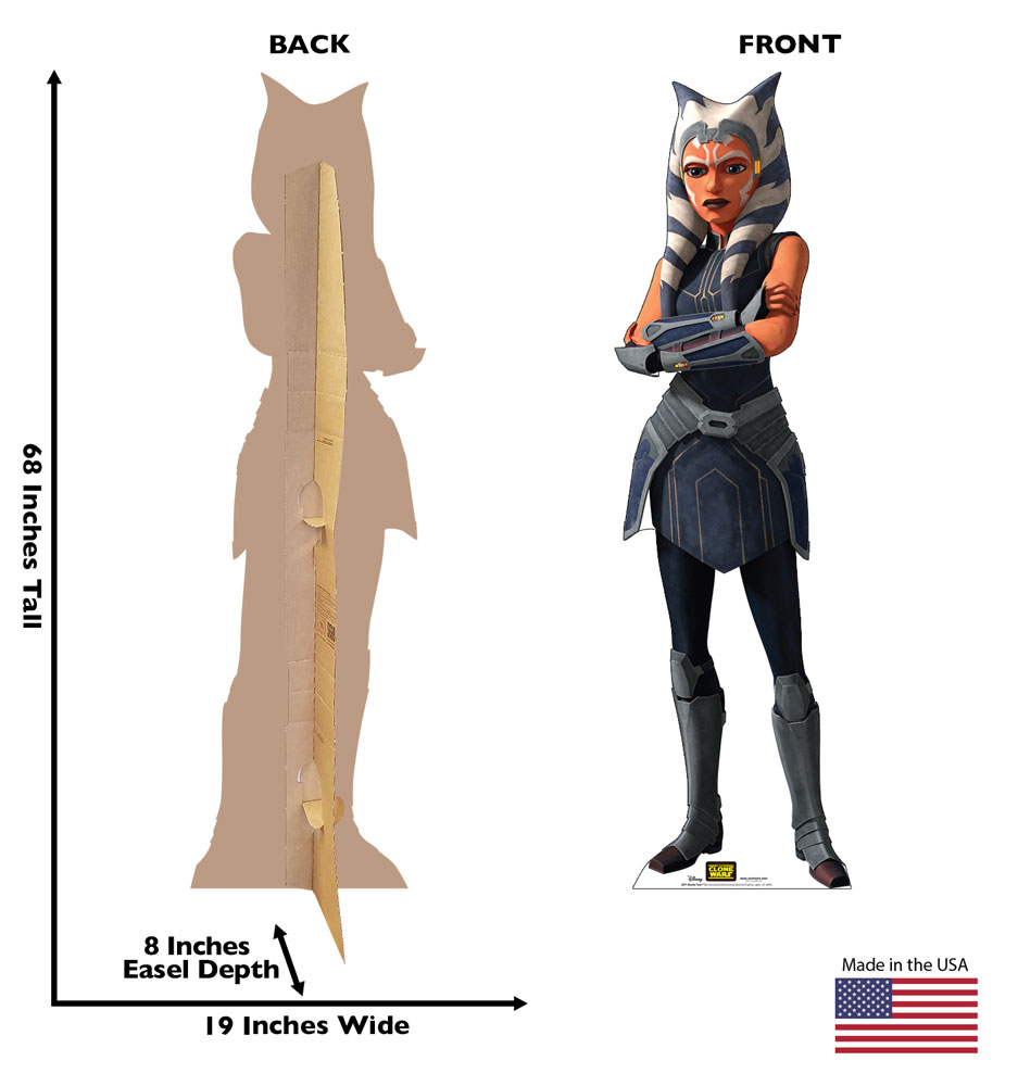 "Stanee of Ahsoka Tano from The Clone Wars. 68"" by 19"""