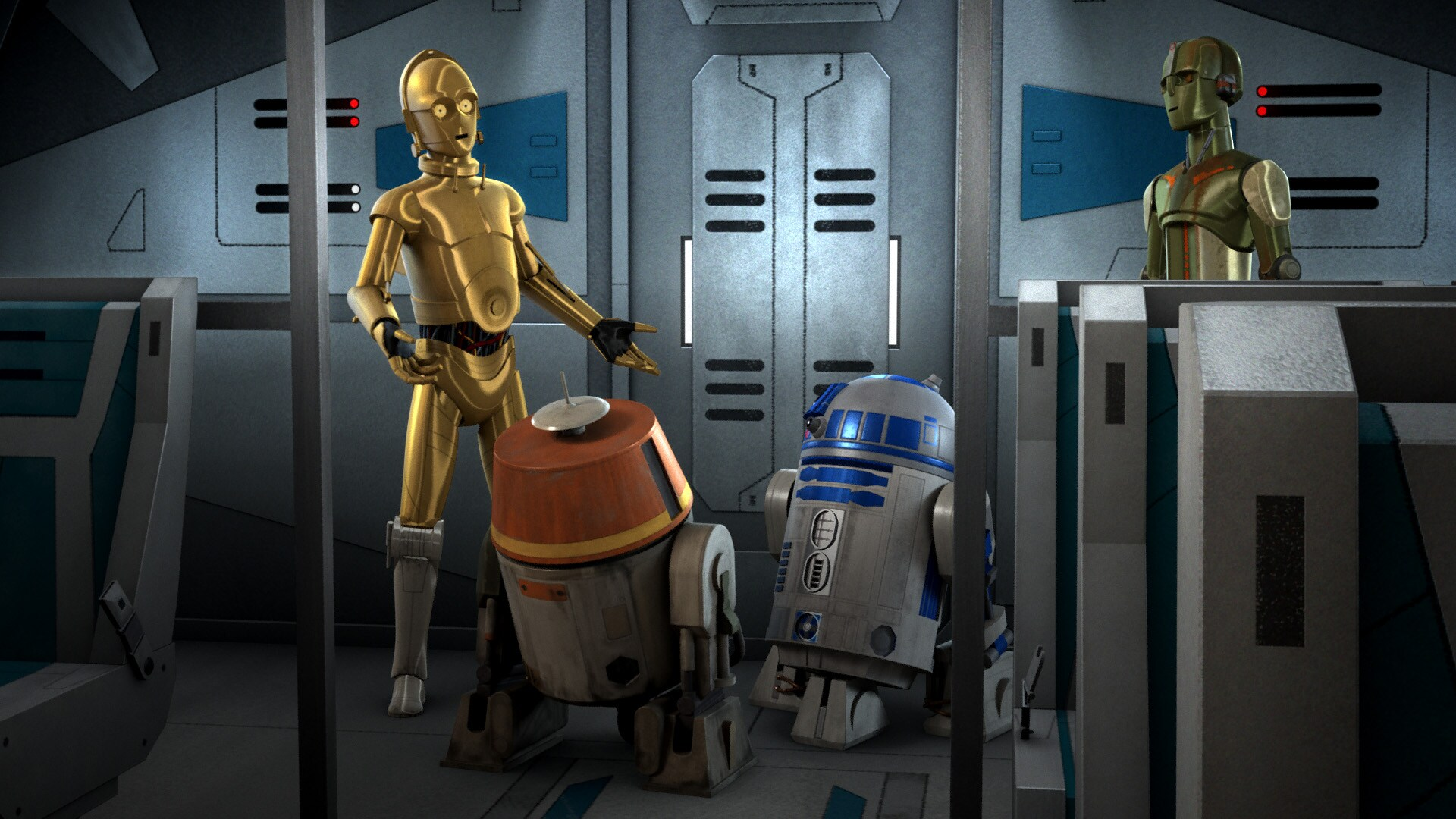 C-3PO and R2-D2 in Droids in Distress
