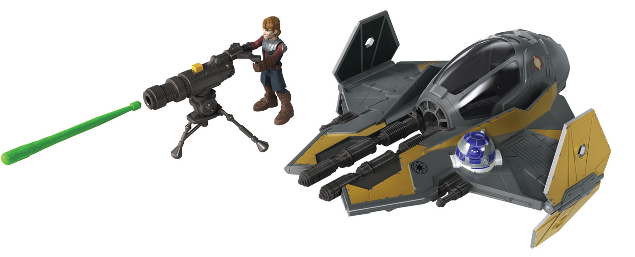 STAR WARS MISSION FLEET ANAKIN SKYWALKER JEDI STARFIGHTER Vehicle and Figure