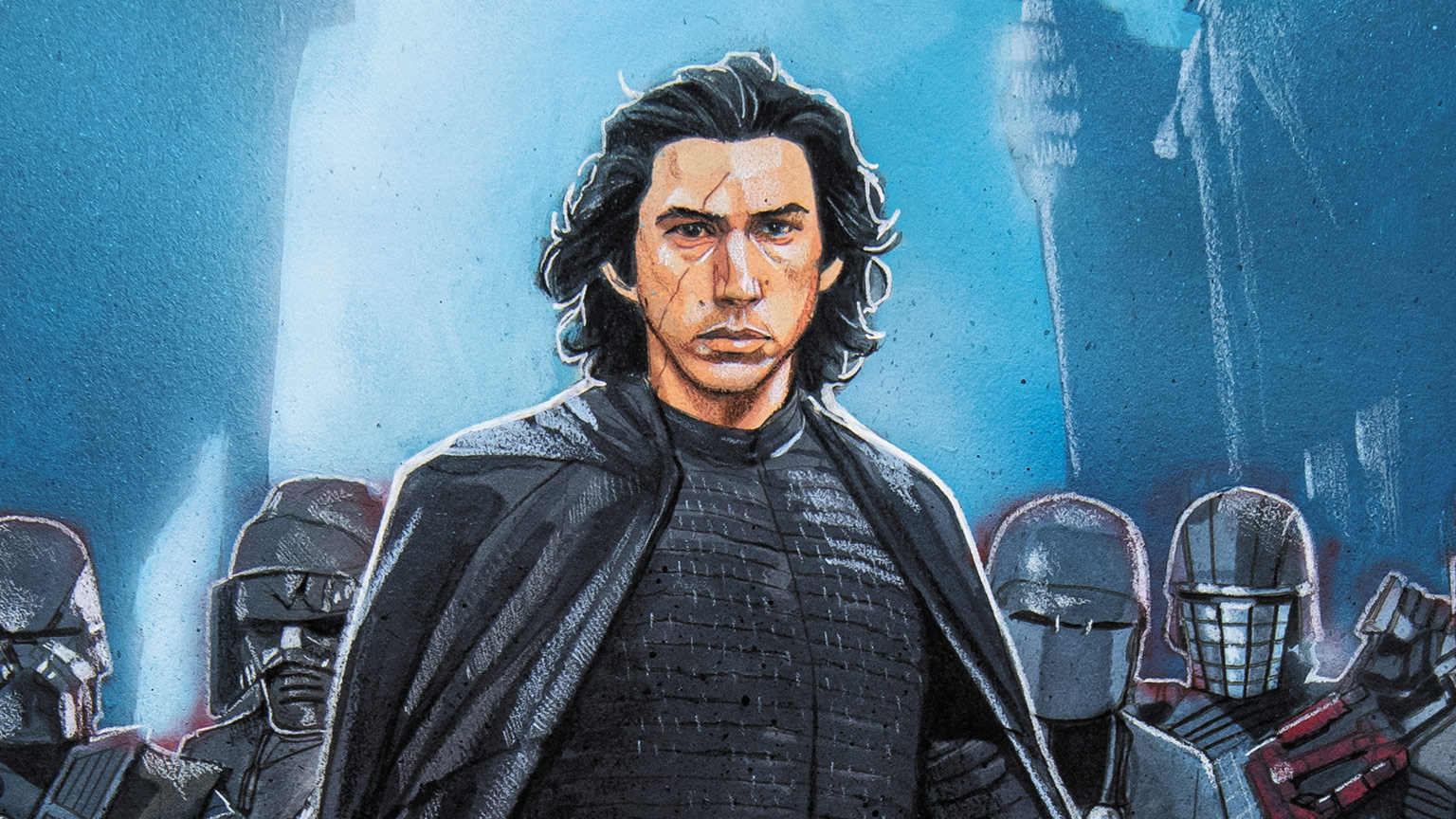 Kylo Ren on the cover of Marvel's Star Wars: The Rise of Skywalker #1