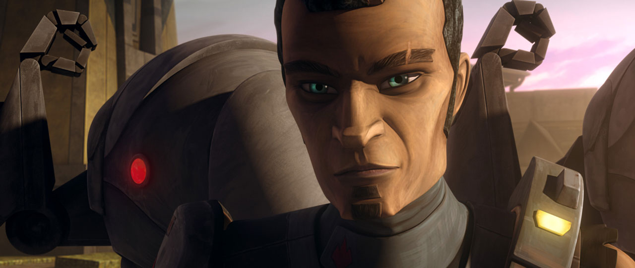 Saw Gerrera in Star Wars: The Clone Wars.