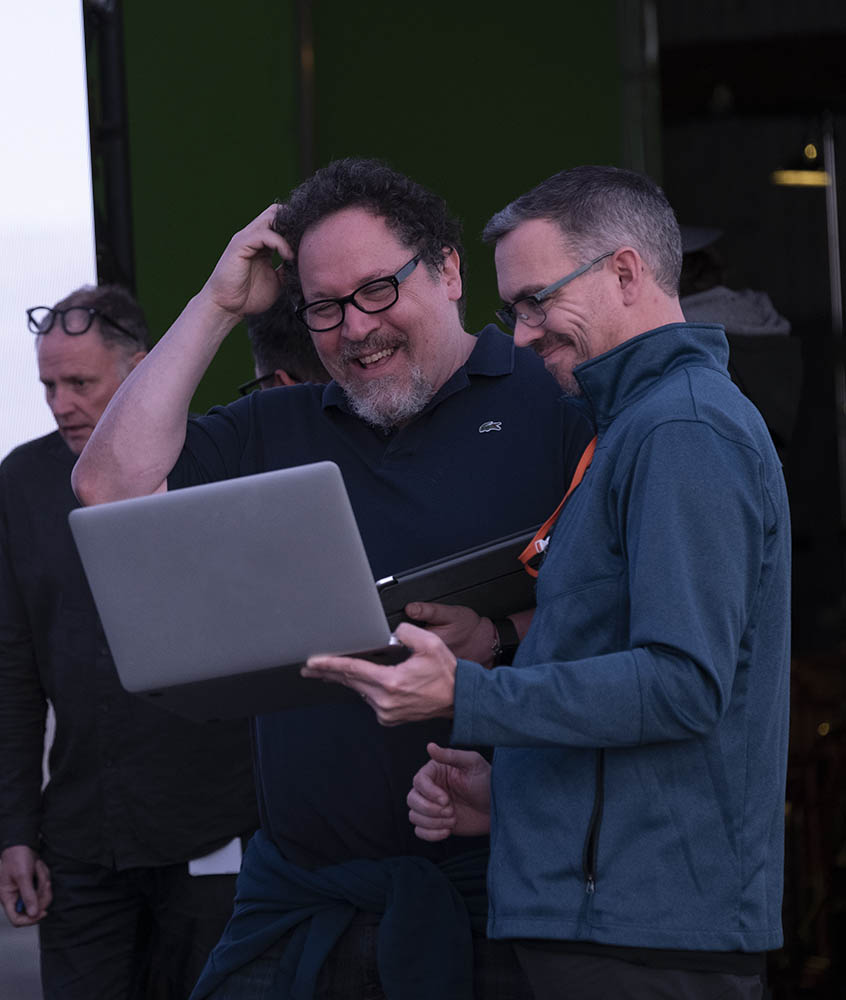 Jon Favreau on the set of The Mandalorian.