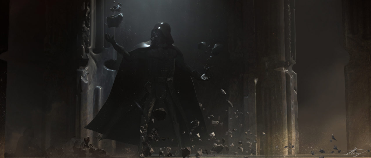Darth Vader uses the Force in Vader Immortal