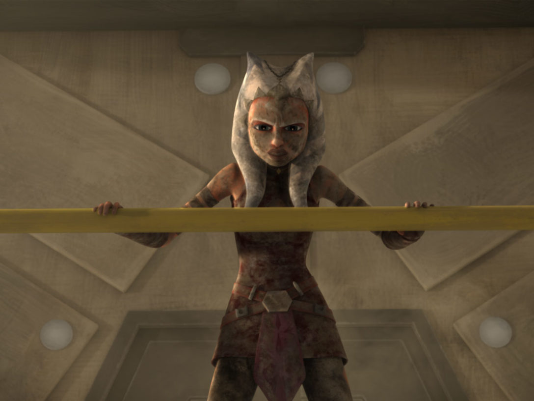 Ahsoka on the Trandoshan moon
