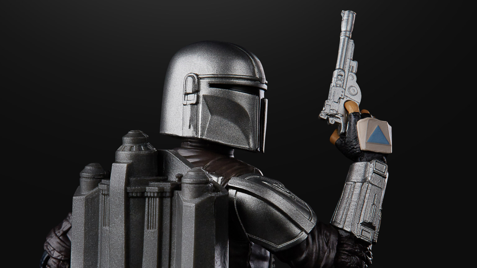 A new Hasbro Black Series Mandalorian in beskar armor.