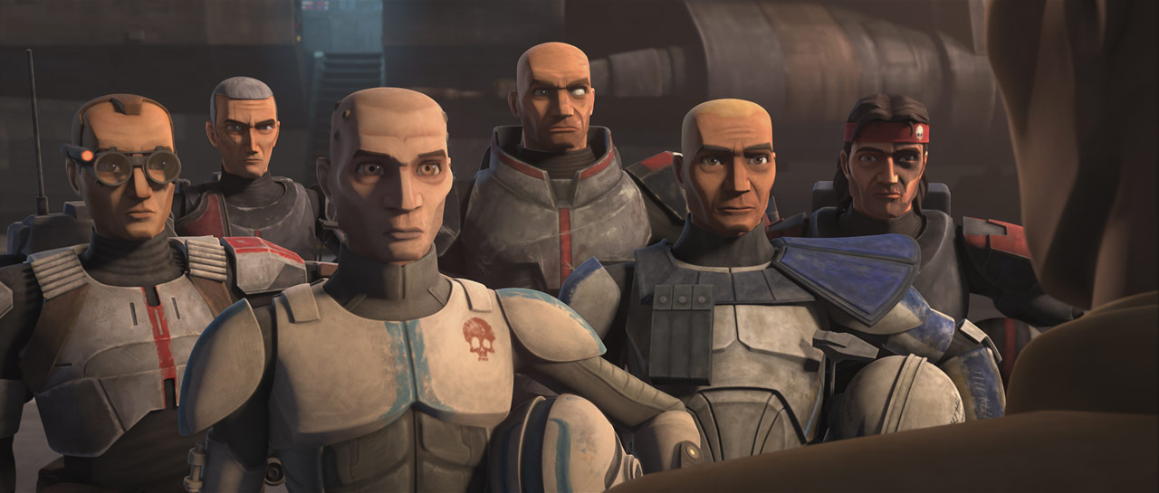 "The Bad Batch in the Star Wars: The Clone Wars episode ""Unfinished Business"""