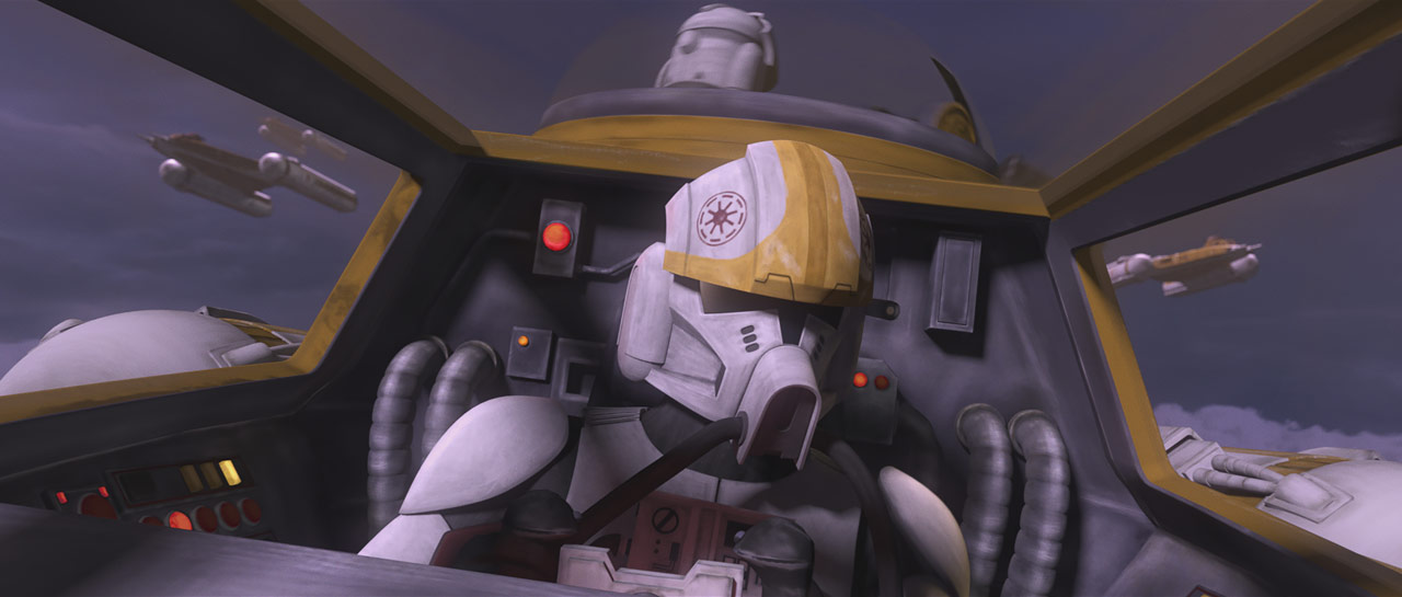 "Clone pilot in the Star Wars: The Clone Wars episode ""Unfinished Business"""