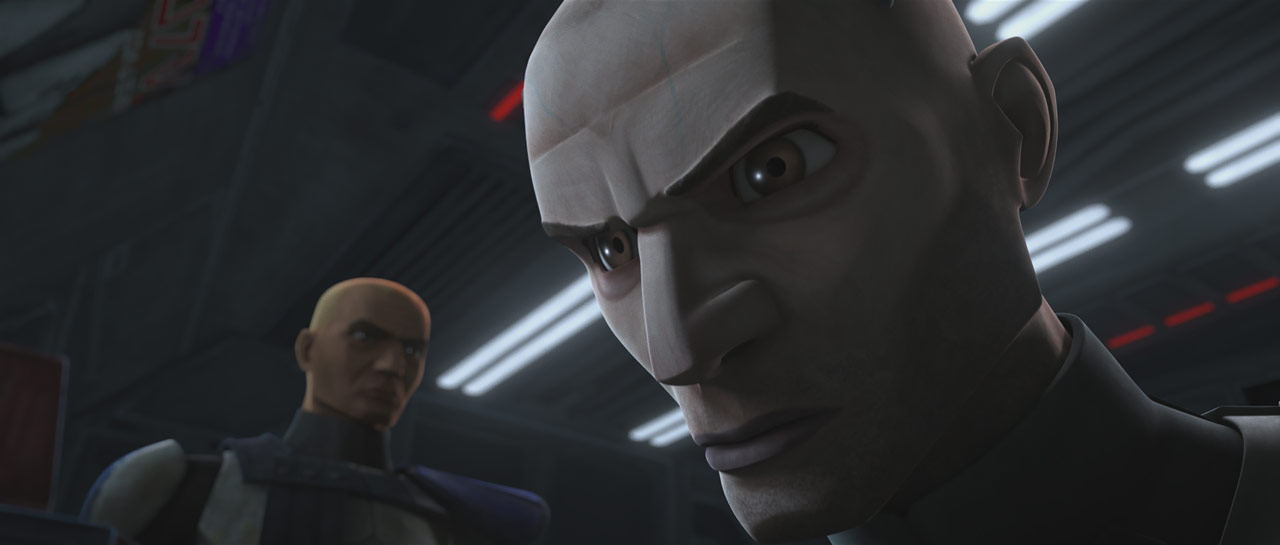 "Rex and Echo in the Star Wars: The Clone Wars episode ""Unfinished Business"""