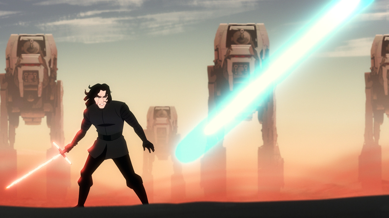Kylo Ren versus Luke Skywalker in Star Wars Galaxy of Adventures