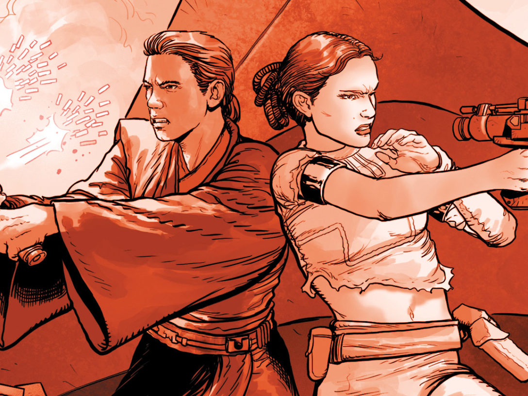 Anakin and Padmé from Marvel Darth Vader #2