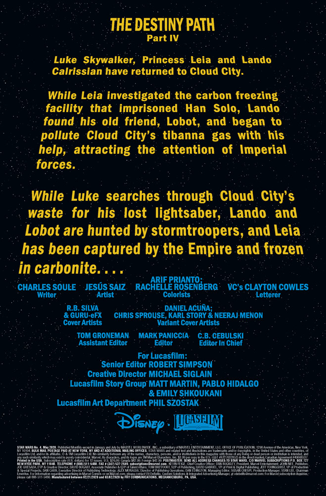 Marvel Star Wars #4 crawl