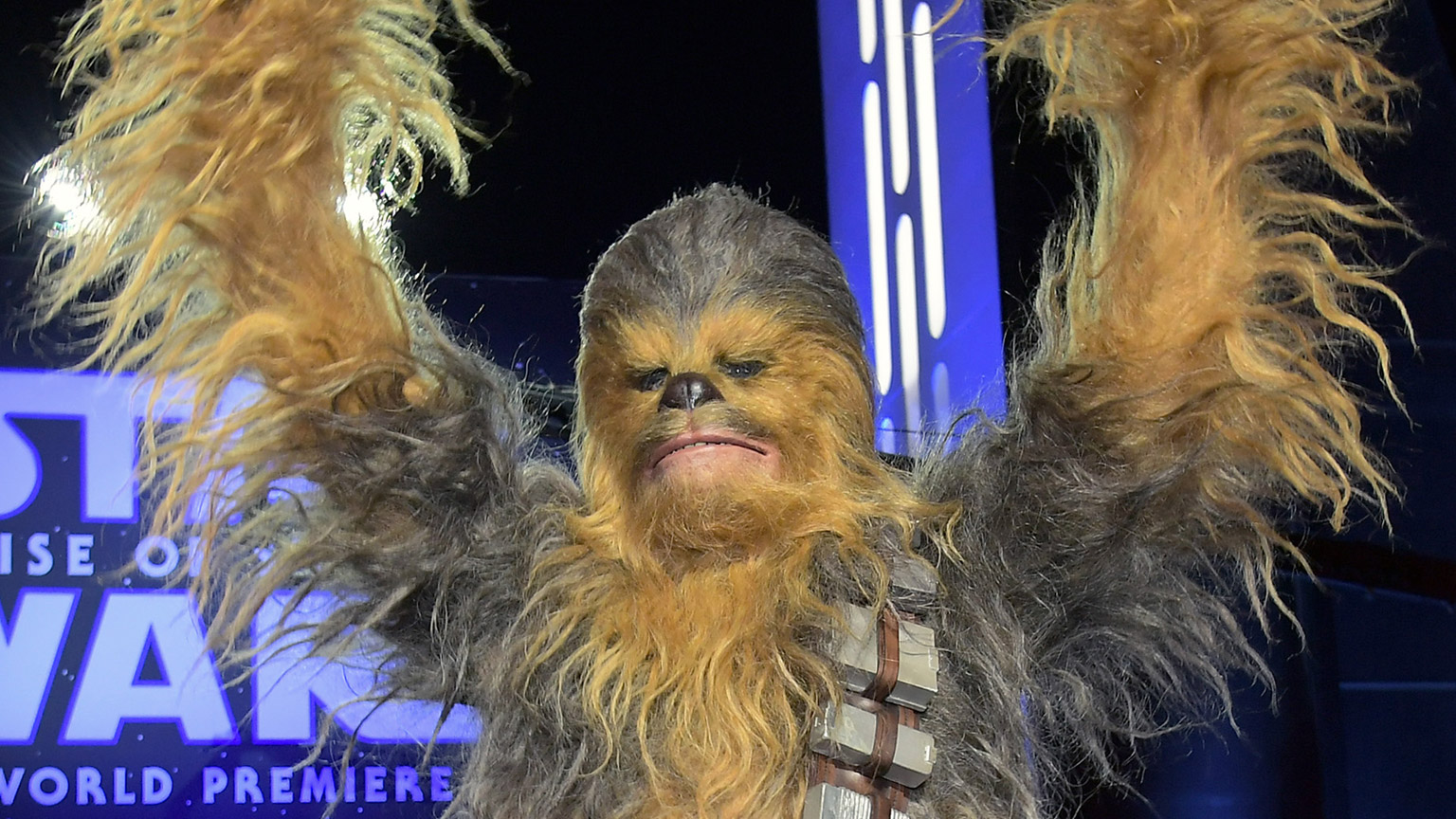 Chewbacca arrives for the World Premiere of Star Wars: The Rise of Skywalker on December 16, 2019 in Hollywood, California.