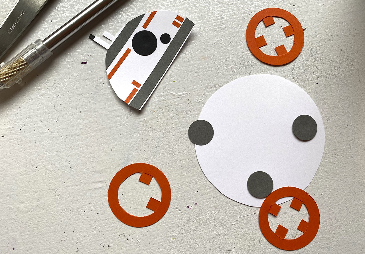 Star Wars Roll Out BB-8 craft step 12