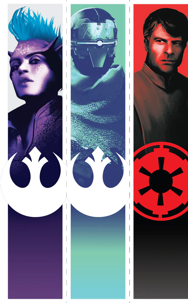 Star Wars: Shadow Fall character bookmarks