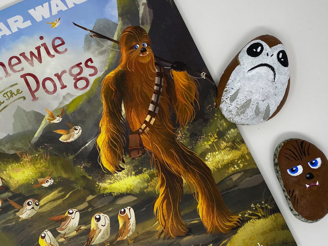 Chewie and the Porgs craft and book