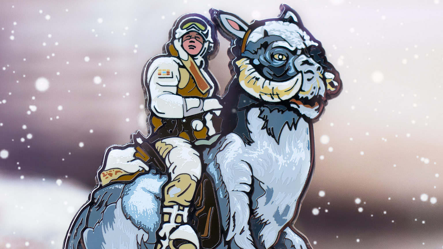 Luke Skywalker on tauntaun FiGPiN