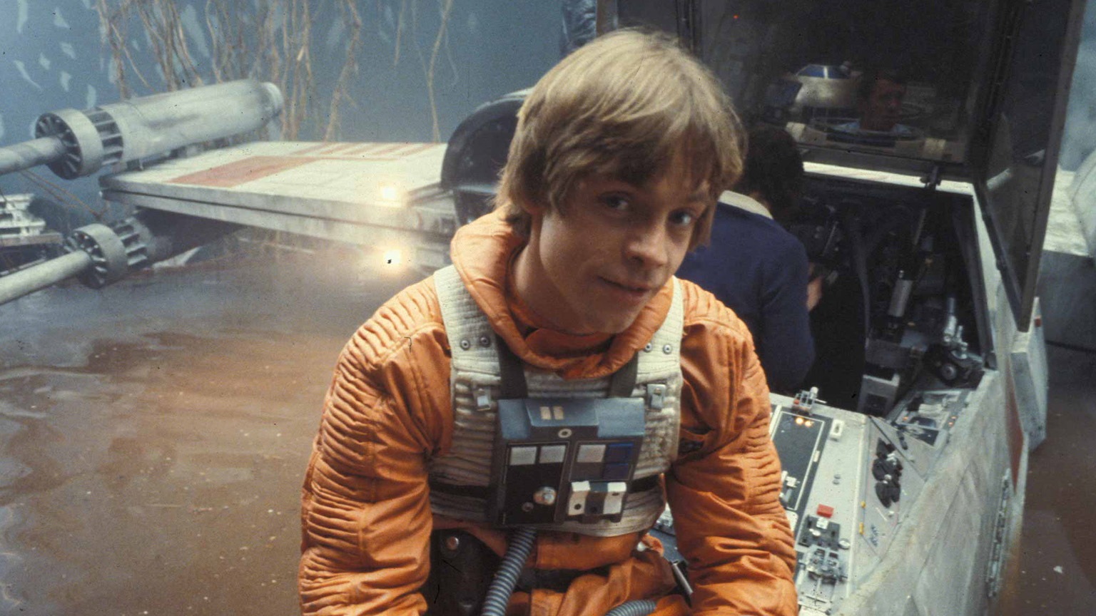 Mark Hamill on the set of The Empire Strikes Back.