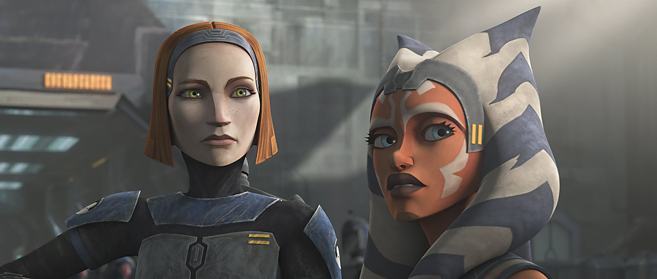 "Ahsoka and Bo-Katan in ""Shattered"""