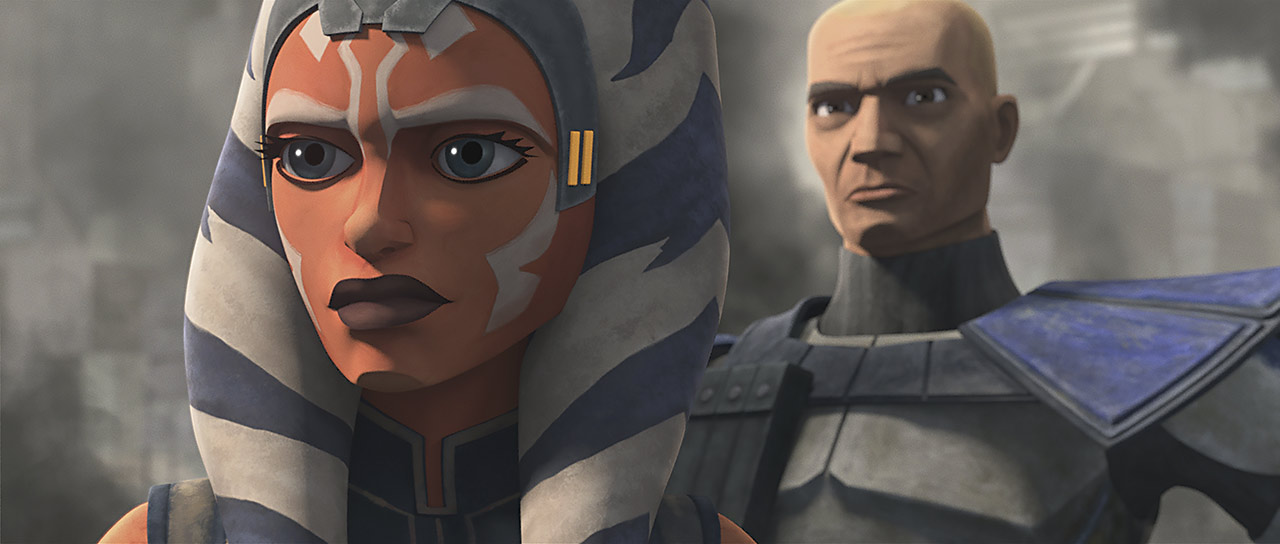 "Ahsoka and Captain Rex in ""Shattered"""