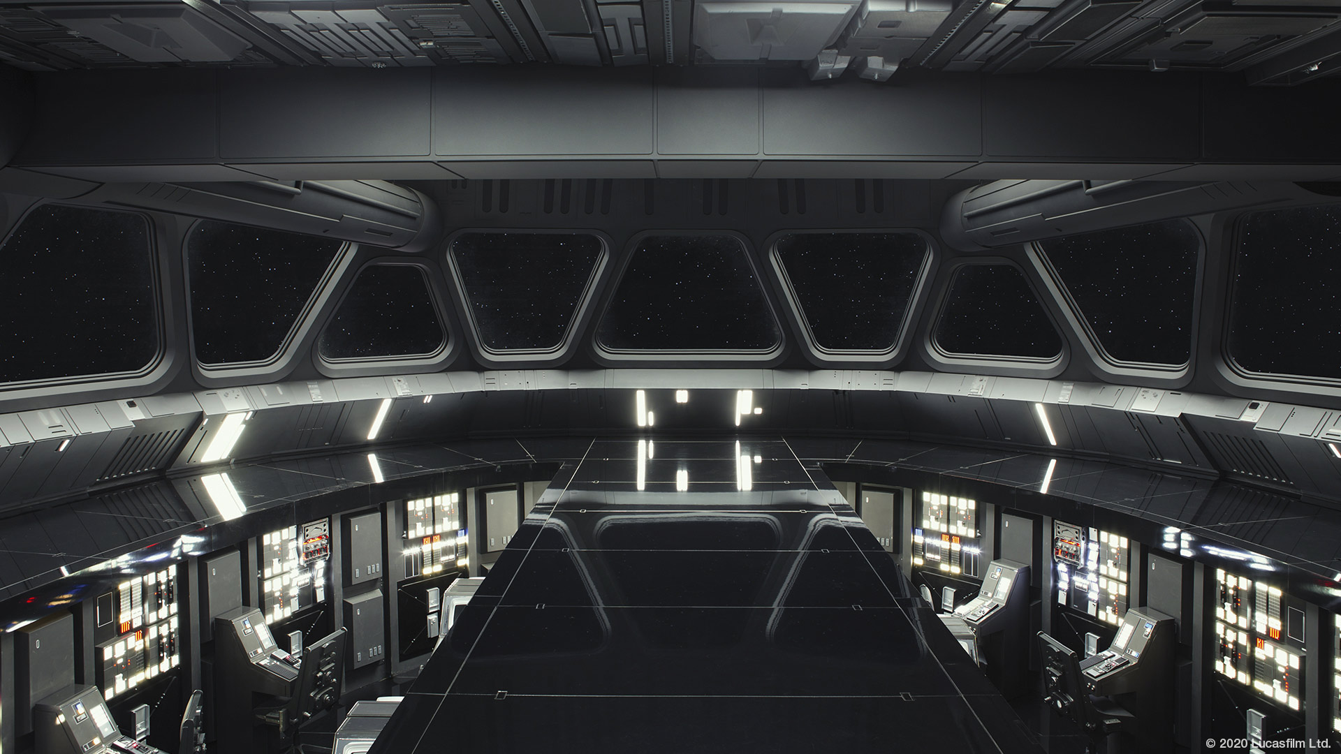 Star Wars virtual background: Imperial Star Destroyer bridge