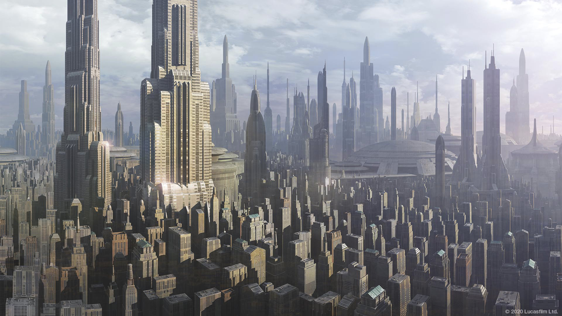 Star Wars virtual background: Coruscant