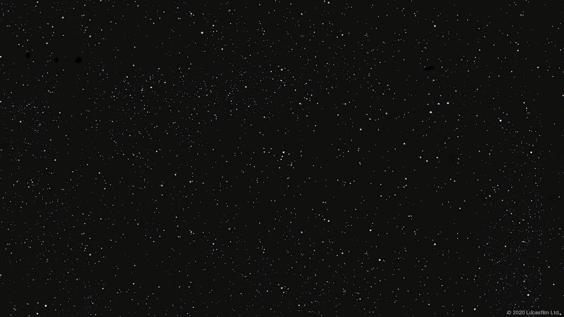 Star Wars virtual background: starfield
