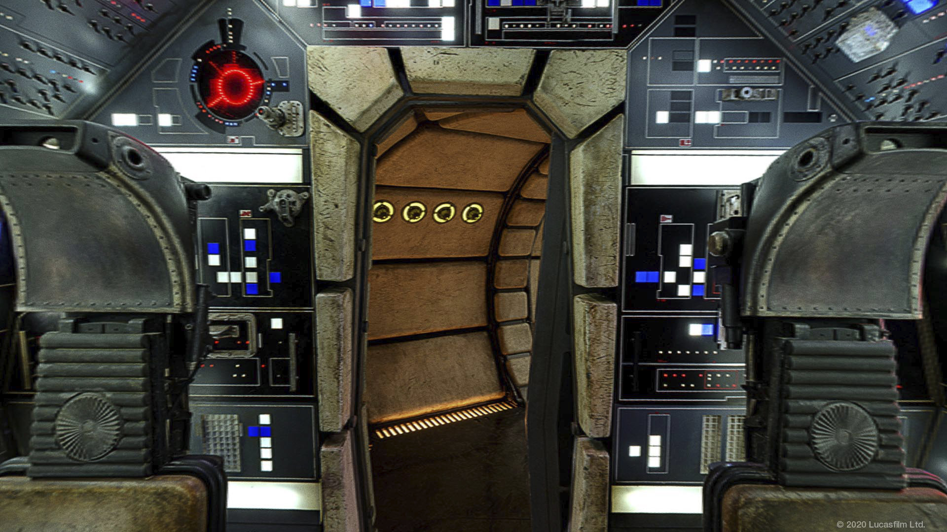 Star Wars virtual background: The Millennium Falcon