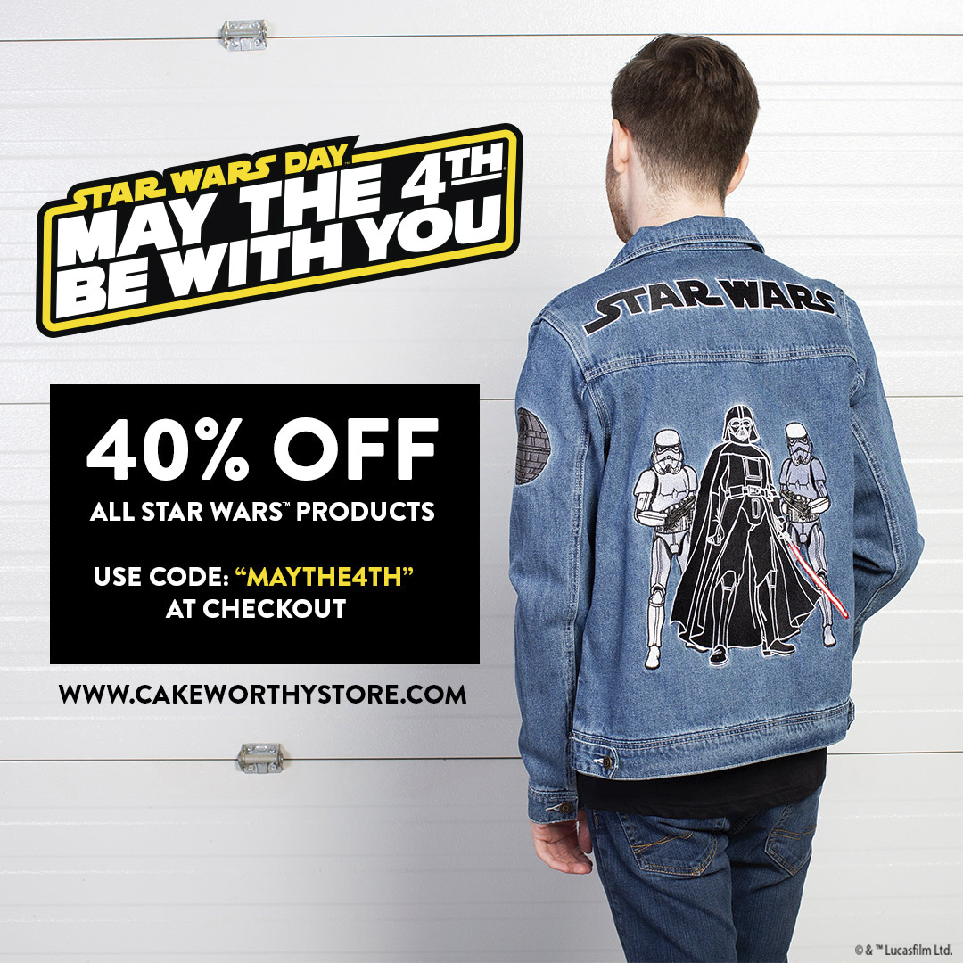 Cakeworthy Star Wars Day promo