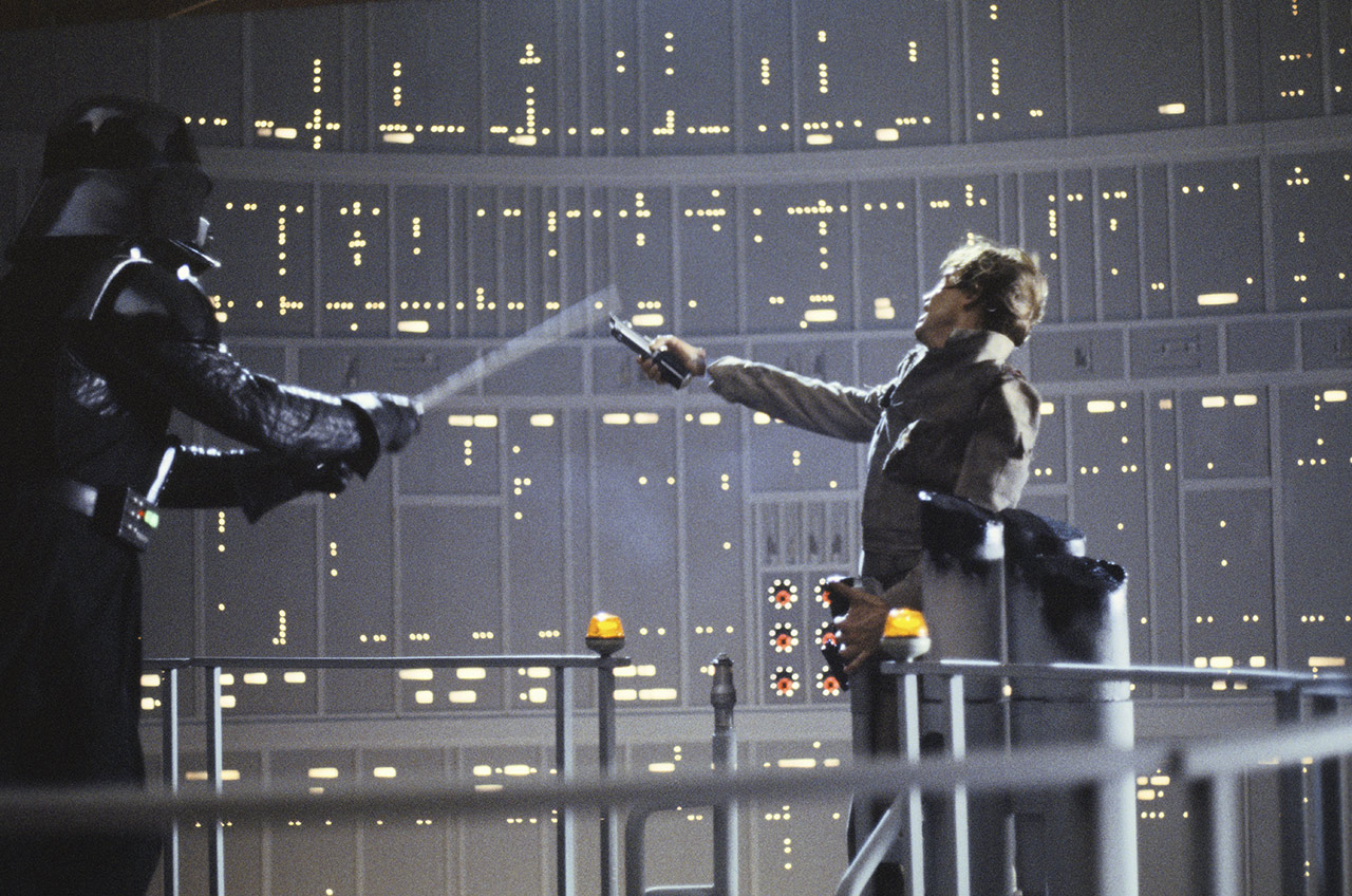 Luke and Darth Vader The Empire Strikes Back behind the scenes