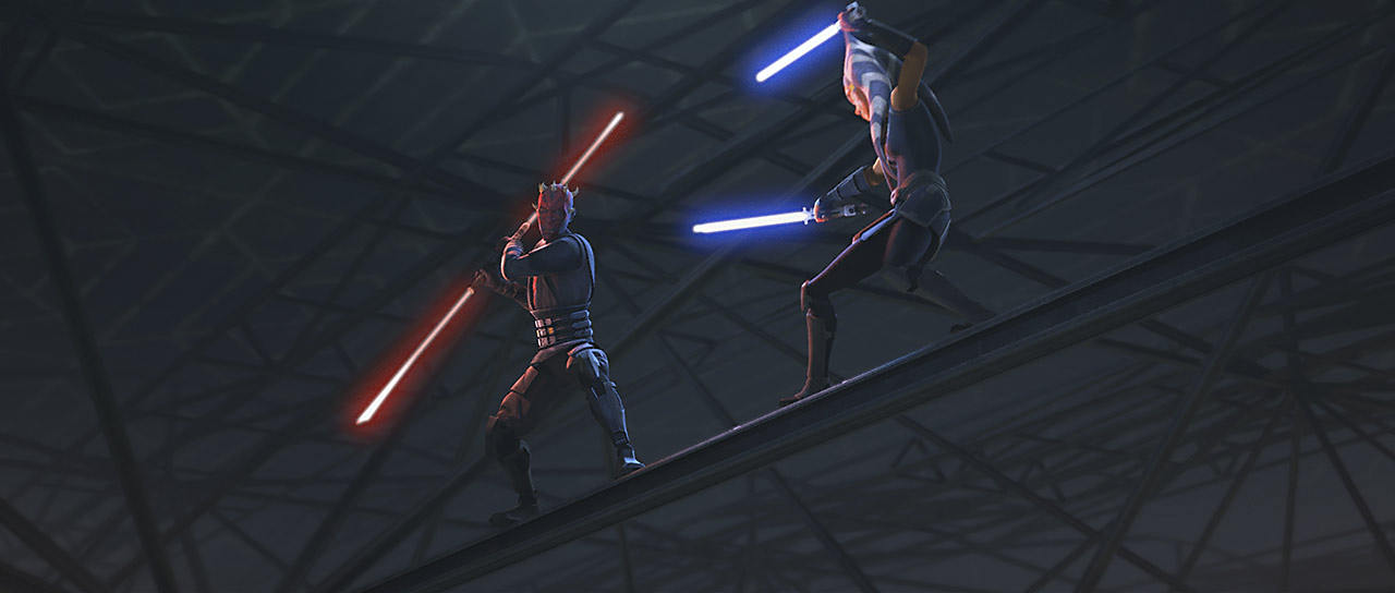 Duel above Mandalore