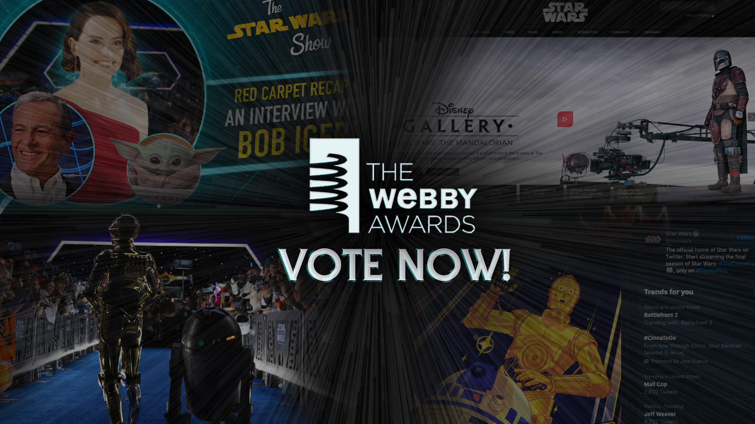 Star Wars montage with the Webbys logo