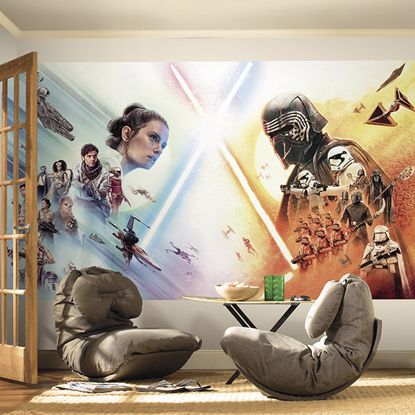 York Wallcoverings Kylo Ren and Rey