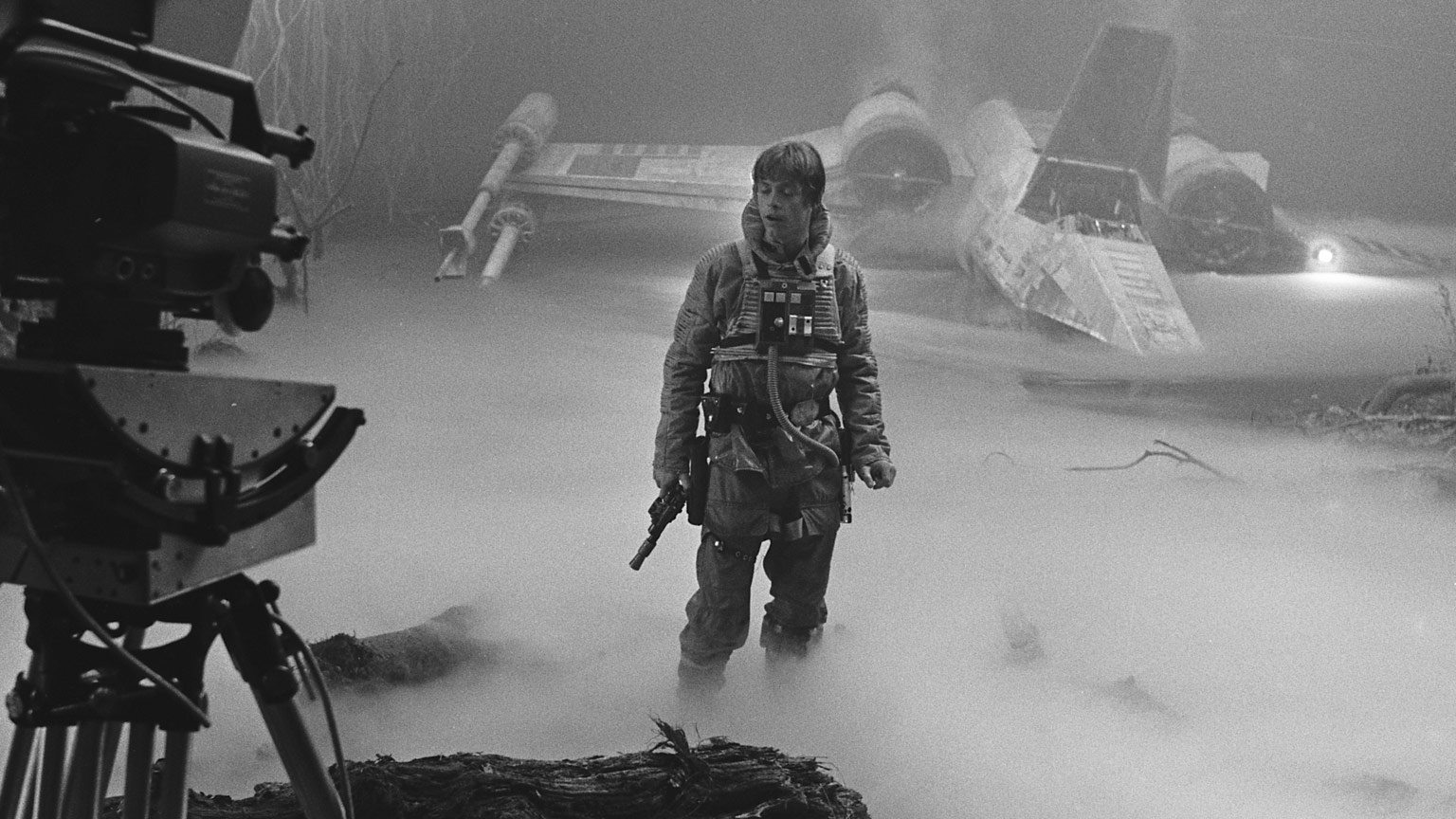 Mark Hamill behind the scenes in The Empire Strikes Back