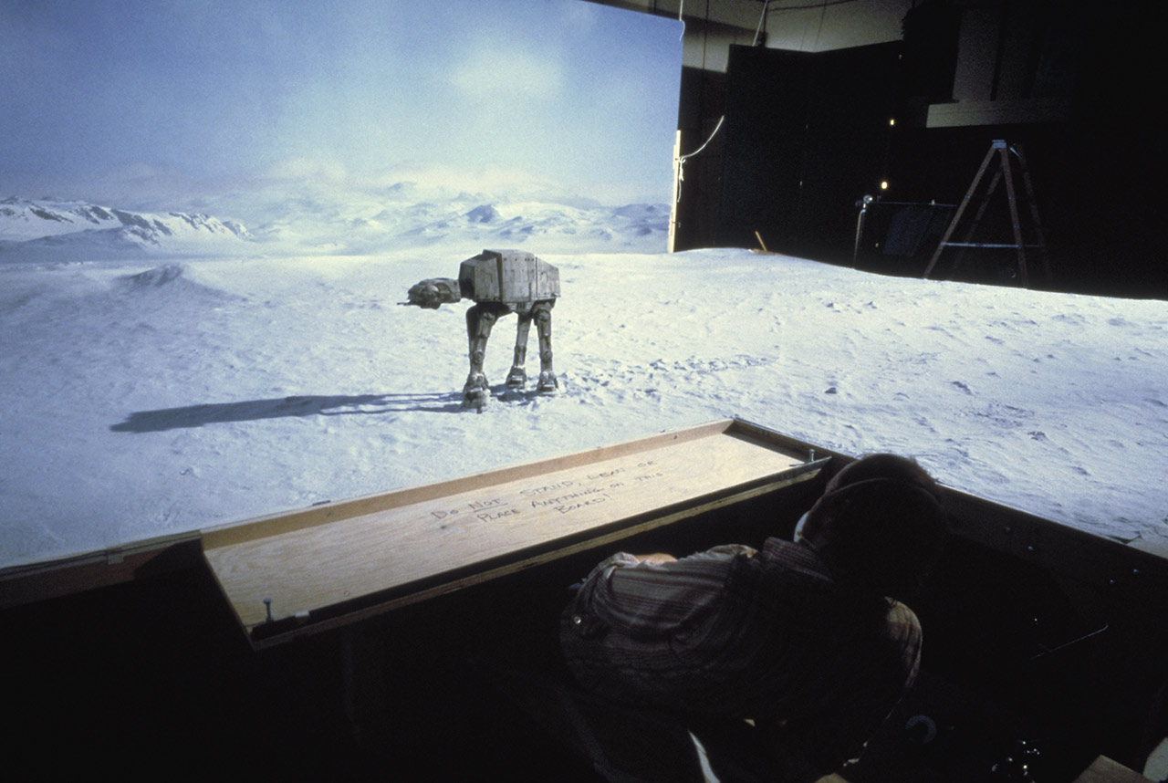 AT-AT against matte painting