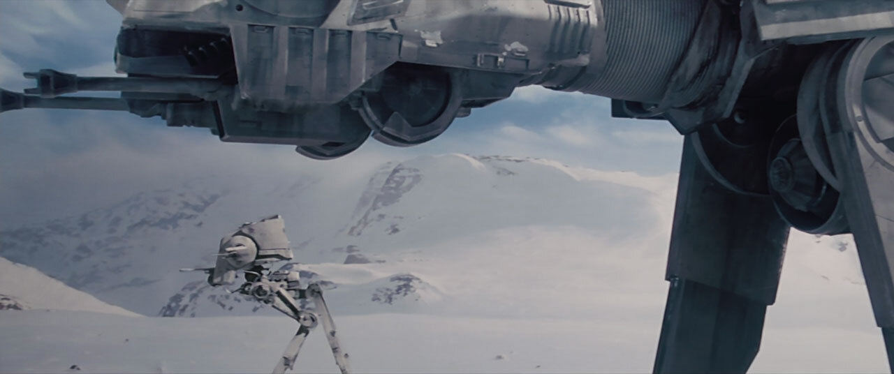 An AT-St in the Battle of Hoth.