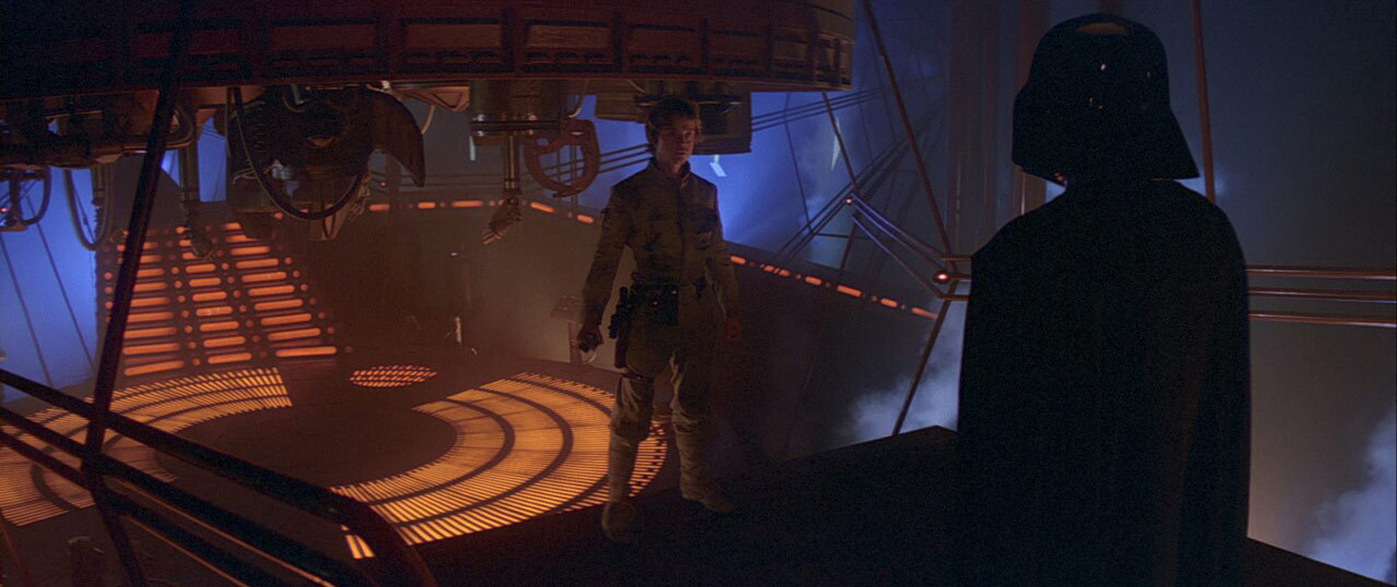 Luke and Darth Vader in Cloud City