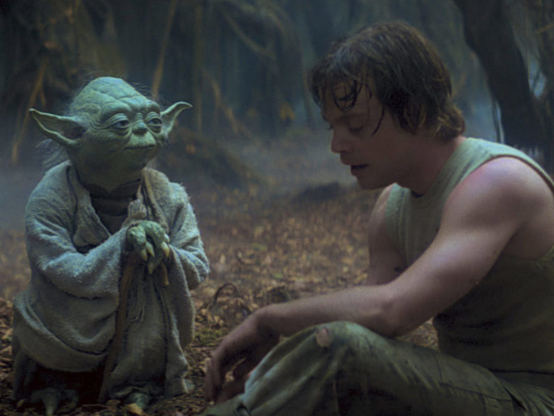 Yoda teaching Luke