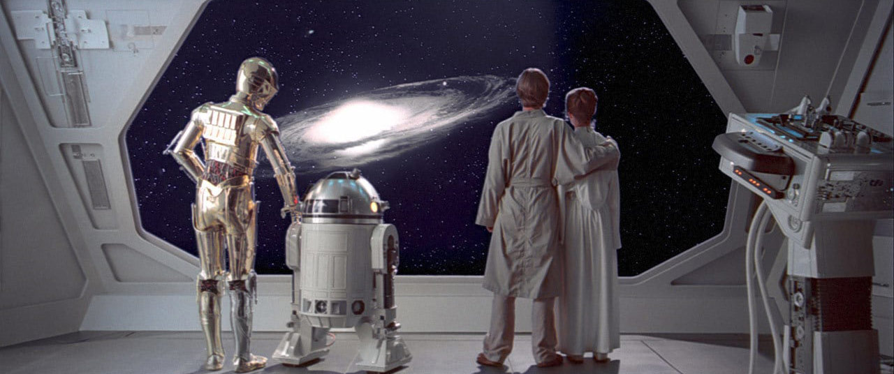 Final scene of Empire Strikes Back