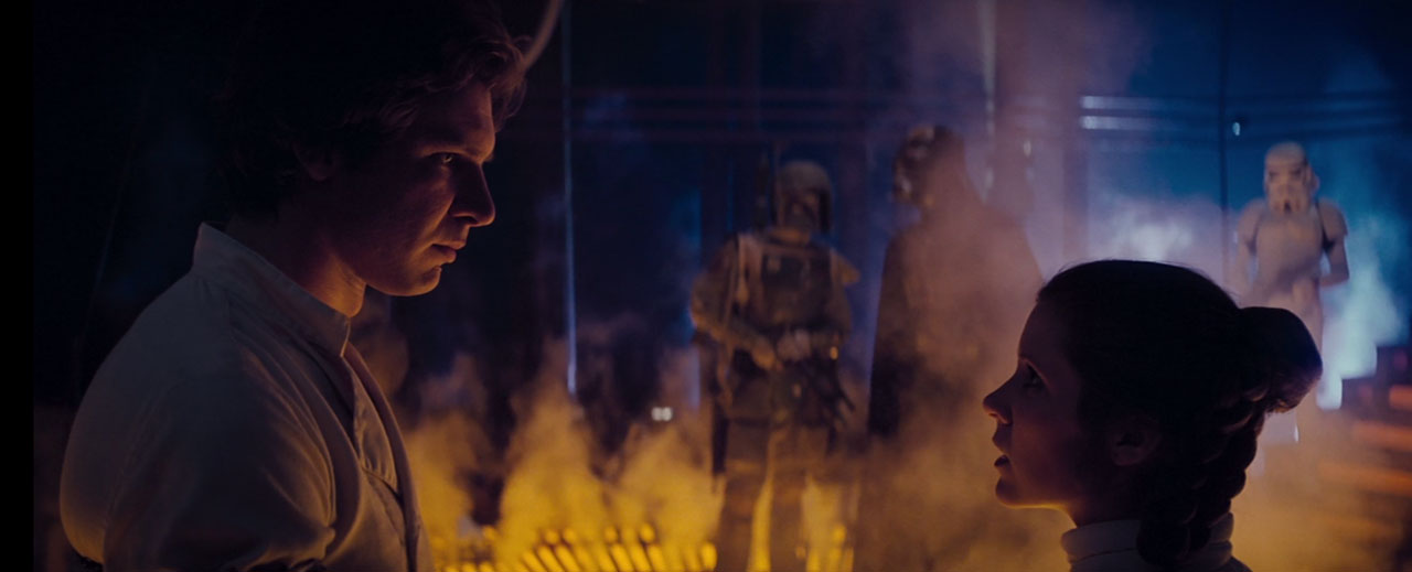 Han and Leia captured by Darth Vader