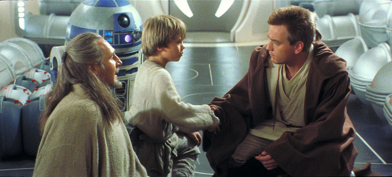 Qui-Gon, Obi-Wan, and Anakin